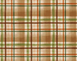 Wild And Free - Plaid Brown Green by Robin Davis from Clothworks Fabric