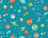 Outer Space - Planets Blue from Makower UK  Fabric