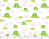 Sunday Picnic - Frogs Lily Pads White by Stacy Iest Hsu from Moda Fabrics