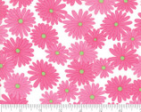 Fiddle Dee Dee - Flower Daisy White Pink by Me and My Sister from Moda Fabrics