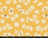 Stellar Metallic - Butter Yellow Stars Moon from Ruby Star Fabric