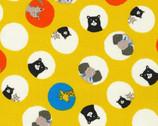 Bearry Land OXFORD - Animals Circles Yellow from Robert Kaufman Fabric
