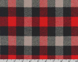 Mammoth FLANNEL - Red Grey from Robert Kaufman Fabric