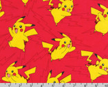 Pokemon FLANNEL - Pikachu Red Lightning from Robert Kaufman Fabric