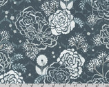 WIshwell Silverstone - Floral Steel by Vanessa Lillrose and Linda Fitch from Robert Kaufman Fabric