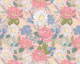 Country Roads - Flowers Pink from Poppie Cotton Fabric