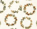 Natural Life DOUBLE GAUZE - Floral Wreath from Kokka Fabric