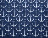 Embrace DOUBLE GAUZE Anchors Cobalt Blue from Shannon Fabrics