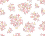 Country Roads - Almost Heaven Floral Pink on White from Poppie Cotton Fabric