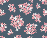 Country Roads - Almost Heaven Floral Navy from Poppie Cotton Fabric
