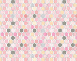 Country Roads - River Hexagon Pink from Poppie Cotton Fabric
