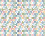 Country Roads - River Hexagon Multi from Poppie Cotton Fabric