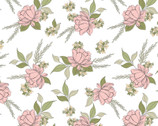 Country Roads - Shenandoa Floral Toss White from Poppie Cotton Fabric