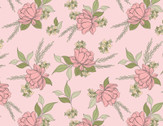 Country Roads - Shenandoa Floral Toss Pink from Poppie Cotton Fabric