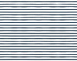Country Roads - Memories Stripe Navy Blue from Poppie Cotton Fabric