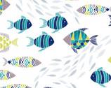 Embrace DOUBLE GAUZE - Fishes Multi from Shannon Fabrics
