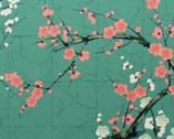 Golden Garden - Cherry Blossom Teal from Alexander Henry