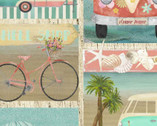 Beach Travel - Patch Postcards by Beth Albert from 3 Wishes Fabric