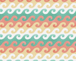 Beach Travel - Waves by Beth Albert from 3 Wishes Fabric