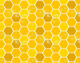 Feed The Bees - Honeycomb Yellow Gold from 3 Wishes Fabric