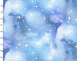 Magical Galaxy - Civil Twilight Blue Metallic from 3 Wishes Fabric