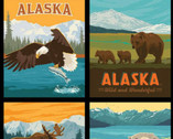 Destinations - Alaska Wildlife Panel 36 Inches by Anderson Design from Riley Blake Fabric