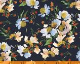 Wildflower - Clair de Lune Midnight by Kelly Ventura from Windham Fabrics