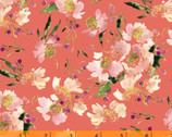 Wildflower - Clair de Lune Coral by Kelly Ventura from Windham Fabrics