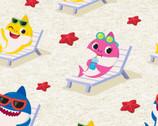 Baby Shark - Starfish Beach from Springs Creative Fabric