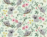 Aussie Friends - Koala Bear  Mint Green by Deane Beesley from P&B Textiles Fabric