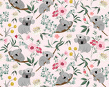 Aussie Friends - Koala Bear  Pink by Deane Beesley from P&B Textiles Fabric