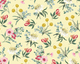 Aussie Friends - Flowers Yellow by Deane Beesley from P&B Textiles Fabric