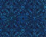Feathered Beauty - Filagree Medallion Dark by Kate Ward Thacker from Springs Creative Fabric
