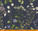 Midsummer - Meadow Sweet Wildflower Dark by Hackney and Co from Windham Fabrics