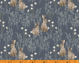 Midsummer - Cotton Tail Rabbit Dark by Hackney and Co from Windham Fabrics