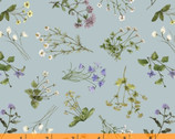 Midsummer - Meadow Ditzy Toss Blue by Hackney and Co from Windham Fabrics