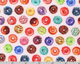 Sweet Tooth - Mini Donuts Strawberry Pink from Robert Kaufman Fabric