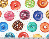 Sweet Tooth - Donuts Dots Sweet White from Robert Kaufman Fabric