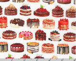 Sweet Tooth - Small Cakes Sweet White from Robert Kaufman Fabric