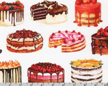 Sweet Tooth - Large Cakes Sweet White from Robert Kaufman Fabric