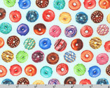 Sweet Tooth - Mini Donuts Mint Aqua from Robert Kaufman Fabric