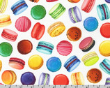 Sweet Tooth - Macarons Sweet White from Robert Kaufman Fabric