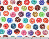 Sweet Tooth - Mini Donuts Multi Whitte from Robert Kaufman Fabric