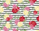 Poly Spandex Knit Prints - Rose Stripe JERSEY KNIT from David Textiles Fabrics