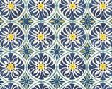 Tuscan Sun - Tile Medallions Round from David Textiles Fabrics