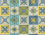 Tuscan Sun - Tile Squares from David Textiles Fabrics