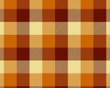Plaid Flannel Orange Red from David Textiles Fabrics
