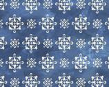Tuscan Sun - Medallions Blue from David Textiles Fabrics