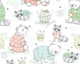 Comfy FLANNEL Prints - Animals In  Pajamas Honey from A.E. Nathan Company