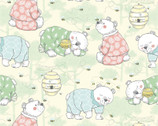 Comfy FLANNEL Prints - Bears In Pajamas Yellow from A.E. Nathan Company